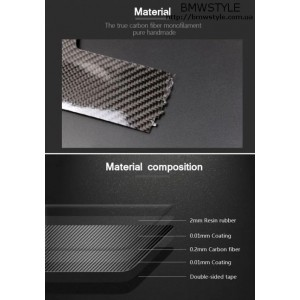 Накладки на пороги BMW M Performance карбон